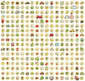 XXL Collection of 289 doodled icons for every occasion No.4 Stock Images