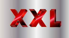 XXL 3D letter Royalty Free Stock Images