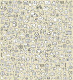XXL Doodle Icons Set No.4 Stock Photography