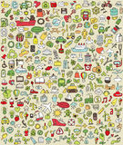 XXL Doodle Icons Set No.2 Stock Photo