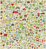XXL Doodle Icons Set No.3 Stock Images