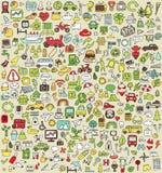 XXL Doodle ikony Ustawiają No.3 Obrazy Stock