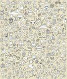 XXL Doodle ikony Ustawiają No.2 Zdjęcie Royalty Free