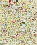 XXL Doodle ikony Ustawiają No.1 Zdjęcie Royalty Free