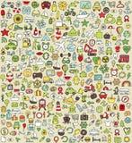 XXL Doodle ikony Ustawiają No.4 Obrazy Royalty Free