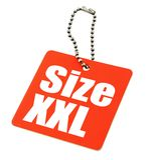 XXL Größen-Marke Stockfotografie