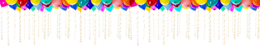 XXL high resolution colourful balloons isolated Royalty Free Stock Images
