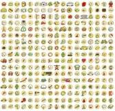 XXL-Inzameling van 289 doodled pictogrammen voor elke gelegenheid No.1 Stock Foto's