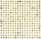 XXL-Inzameling van 289 doodled pictogrammen voor elke gelegenheid No.3 Royalty-vrije Stock Afbeeldingen