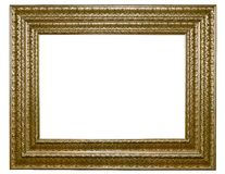 XXL-Isolated wooden Photo Frame Royalty Free Stock Photo