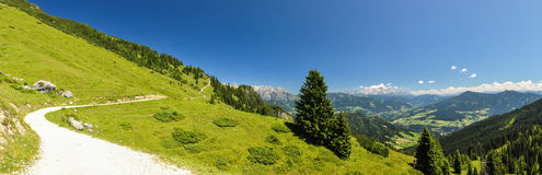 XXL Panorama - hiking trail at Hochkoenig Mountain - Austria Stock Photos