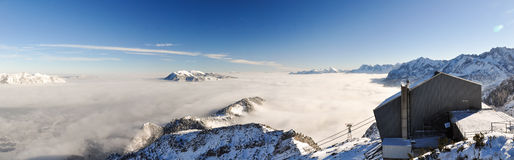 XXL Panorama - Winter landscape near Garmisch-Partenkirchen Royalty Free Stock Image