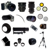 XXL. Photographic equipment set. 16 elements Royalty Free Stock Photos