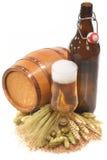 XXL piwna butelka z piwnym szkłem Obraz Royalty Free