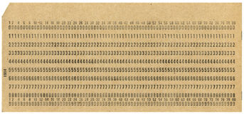XXL punchcard Stock Photo
