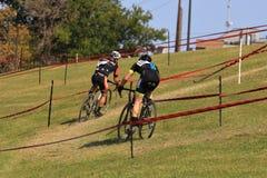 XXL racing cyclists Stock Photos