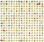 XXL-samlingen av 289 klottrade symboler för varje tillfälle No.2 Arkivfoton