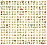 XXL-samlingen av 289 klottrade symboler för varje tillfälle No.4 Arkivbilder