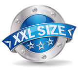 XXL size. Button XXL size and advertising royalty free illustration