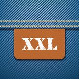 XXL size clothing label -  Stock Images