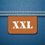 XXL size clothing label -  Stock Images