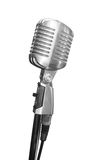 XXL size, Retro Microphone. With clipping path stock photo