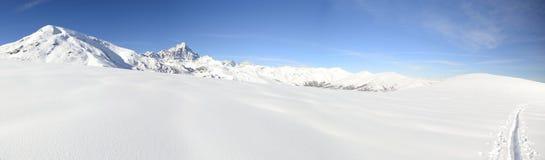 XXL Snowy alpine landscape Stock Photo