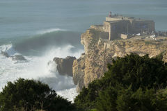 XXL wave at Nazare Portugal Stock Photos