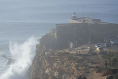 XXL Wave Nazare Portugal Royalty Free Stock Photography