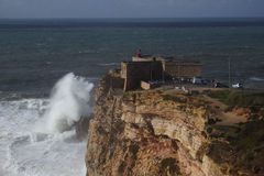 XXL Wave Nazare Royalty Free Stock Image