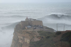 XXL Waves Nazare Portugal Stock Image
