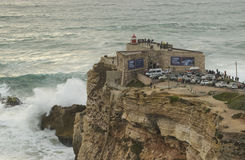 XXL Waves at Nazare Portugal Stock Photography