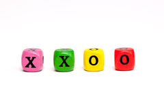 XXOO Letter Blocks Stock Images