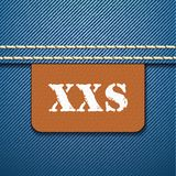 XXS size clothing label -  Royalty Free Stock Images