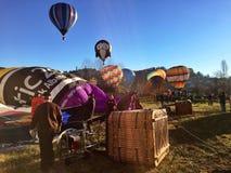 XXVII International Gathering of Hot Air Balloons in Mondovi Stock Images