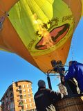 XXVII recolhimento do International de balões de ar quente em Mondovi Foto de Stock Royalty Free