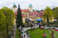 XXVIII花和艺术节在Ksiaz城堡 库存图片