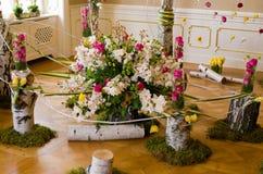 XXVIII花和艺术节在Ksiaz城堡 图库摄影