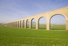 XXVIII century aqueduct Noain. Stock Photos