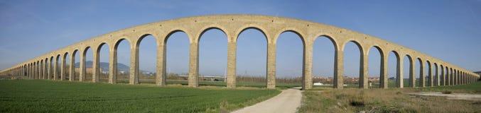 XXVIII century aqueduct Noain, Navarra Royalty Free Stock Photography
