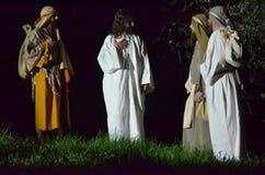XXVIII edizione Antignano μέσω Crucis Στοκ φωτογραφία με δικαίωμα ελεύθερης χρήσης