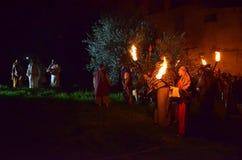 XXVIII edizione Antignano μέσω Crucis Στοκ Εικόνα