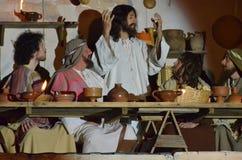 XXVIII edizione Antignano via Crucis fotografia stock