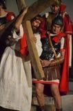 XXVIII edizione Antignano via Crucis immagine stock