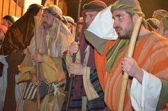 XXVIII edizione Antignano Via Crucis. Stock Photography