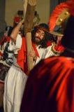 XXVIII edizione Antignano Via Crucis. Stock Images