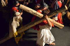XXVIII edizione Antignano Via Crucis. Royalty Free Stock Photos