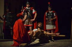 XXVIII edizione Antignano Via Crucis. Royalty Free Stock Images