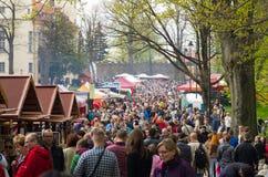 XXVIII Flower and Art Festival in Ksiaz Castle Royalty Free Stock Photo