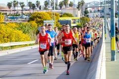 XXVIII Halbmarathon Bahia de Cadiz lizenzfreie stockbilder